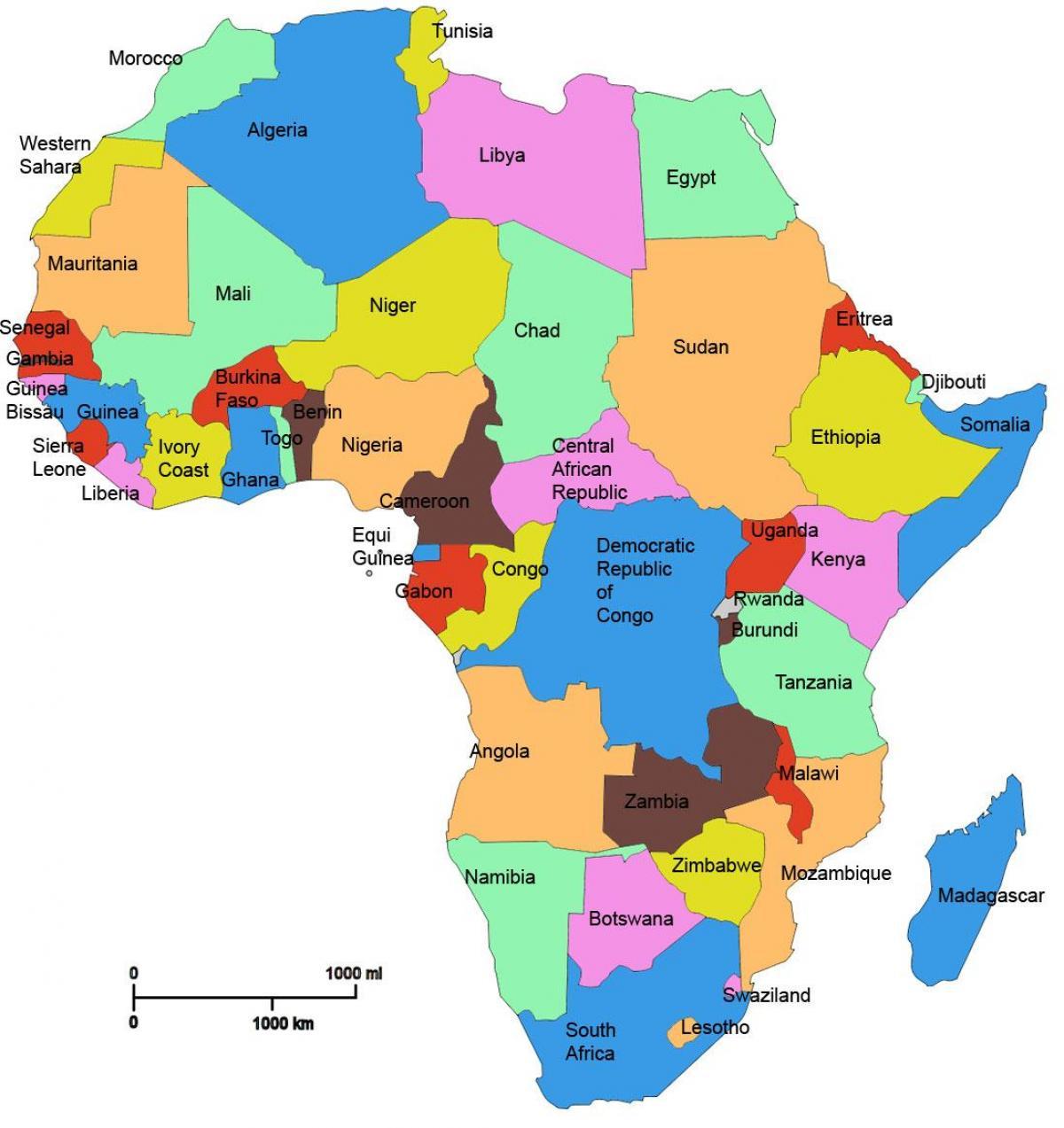 Tansanian Ja Afrikan Kartta Kartta Afrikan Osoittaa Russia Ita
