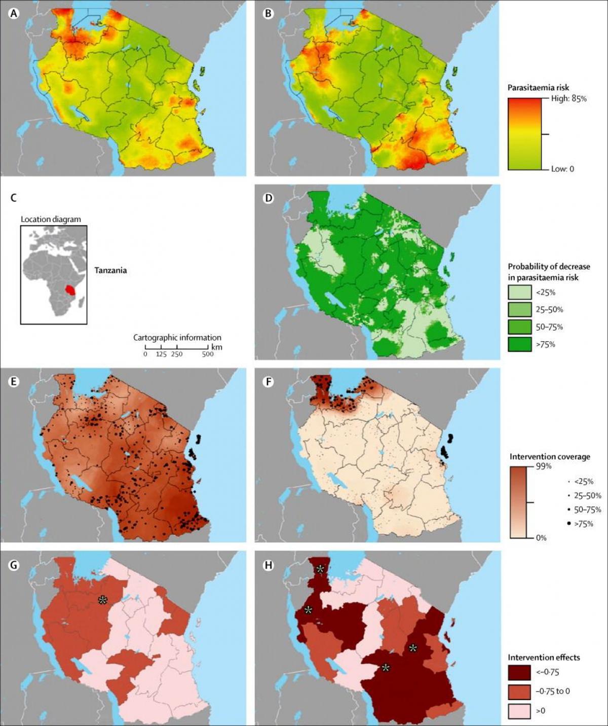 Tansania Malaria Kartta Kartta Tansanian Malaria Ita Afrikka